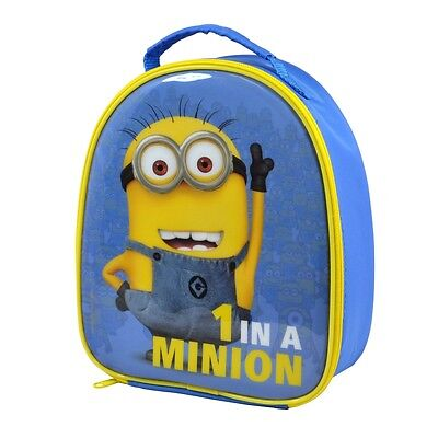 One In A Minion Zipped Lunch Bag School Box Insulated Film  Despicable Me Gru