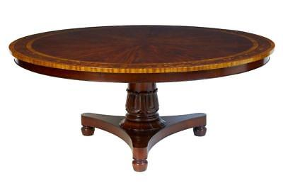 20Th Century Mahogany Inlaid 6Ft Round Dining Table