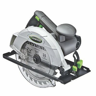 "New Genesis Gcs120 7 1/4"" 12 Amp Electric Heavy Duty Circular Saw New 5094230"