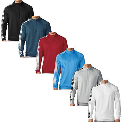 Adidas Golf 2016 Mens 3-Stripes 1/4 Zip Layering Top Performance Pullover