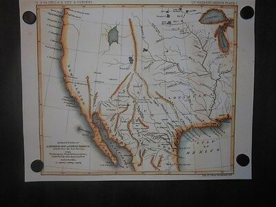 North America United States 1795 Map Mississippi River to California Louisiana