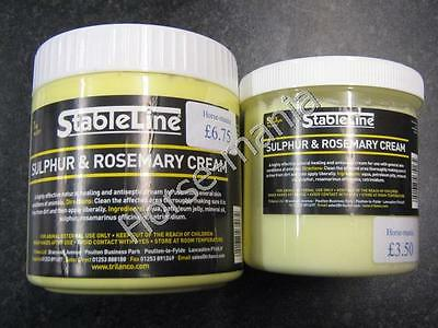Stableline Rosemary & Sulphur Cream Ointment For Skin Conditions Horses/animals