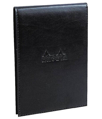 "Rhodia Leatherette Pad Holder #11 - 3"" x 4"" Black w/pad"