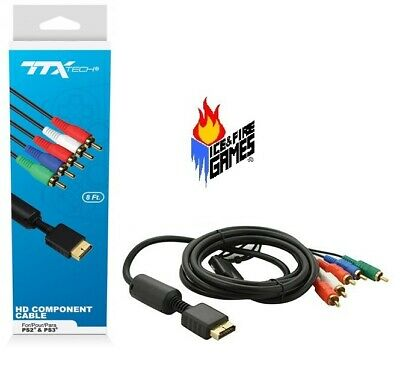New Gold Plated Component HD AV Cable for Sony PS2 or PS3