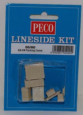 "OO HO Peco Lineside Un-Painted Kit Packing Cases FNQHobbys LK-24 ""New"""