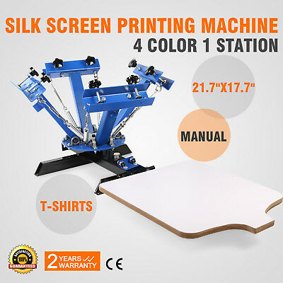 4 Color 1Station Silk Screen Printing Press Printer DIY Shirt Processing Machine