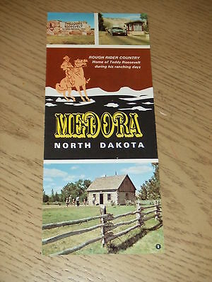 VINTAGE 1973 Medora North Dakota Tourist Brochure Roosevelt Park Badlands ND