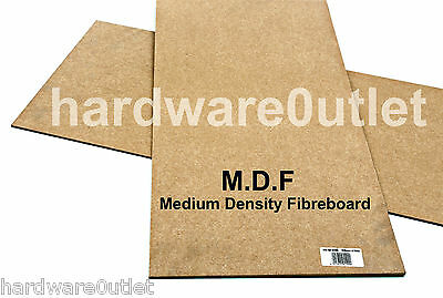 "6 mm MDF Sheet 600 x 300 mm 24"" x 12"" Medium Density Fibre Board"