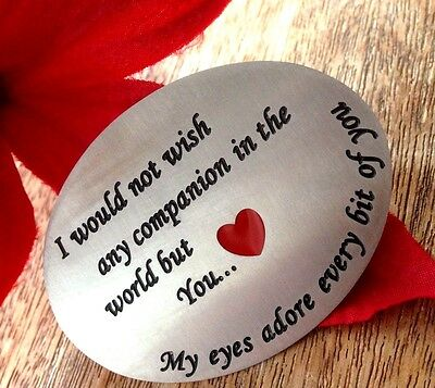 Valentines Gifts Keepsake Red Heart for him mens Love Romantic husband wife Day