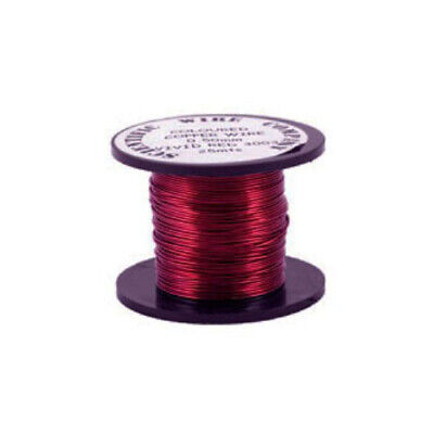 1 x Burgundy Plated Copper 0.5mm x 15m Round Craft Wire Coil W5019