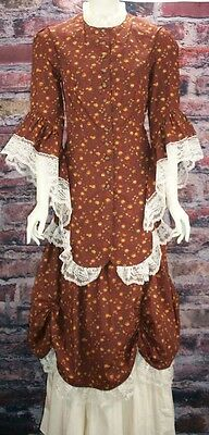 FRONTIER CLASSICS Victorian Chocolate Floral Lace Calico Ensemble Dickens SASS