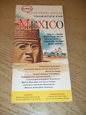 VINTAGE 1965 Humble Oil Gas Touristips MEXICO Guide Booklet Laredo Brownsville