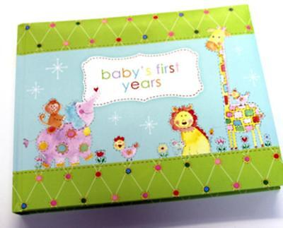 Babys First Years to toddler Picture Album Record Book Hard Padded Back