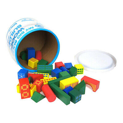 A to Z My Big Bucket of Wooden Building Blocks