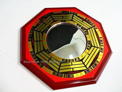 """6.4""""Big Chinese Oriental Protection Feng Shui Home House Convex Bagua Mirror #d"""
