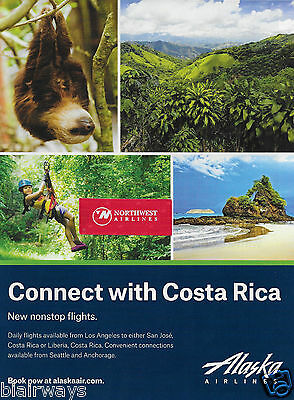 Alaska Airlines Connect With Costa Rica Los Angeles Nonstop San Jose/ Liberia Ad