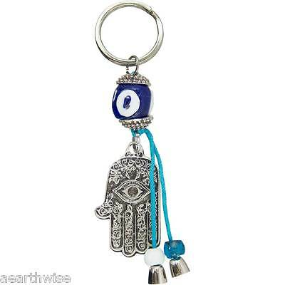 EVIL EYE TALISMAN KEY RING FATIMA HAND Wicca Pagan Witch Goth Spell PROTECTION
