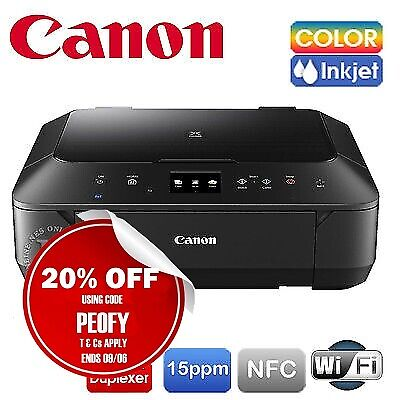Canon MG6860-BK 3-in-1 Wireless Color MFP Printer+AirPrint *Without Starter Ink*
