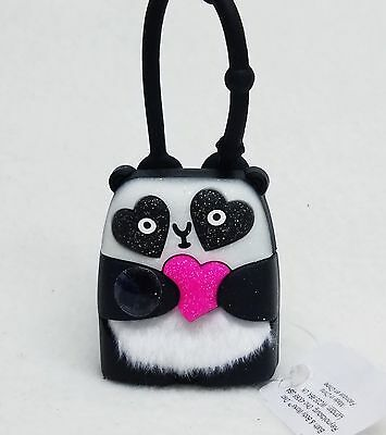 1 Bath & Body Works BLACK PANDA BEAR Light Up Heart Pocketbac Holder Sleeve Case