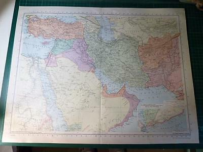 Map From Philip's Atlas 1945 - South Western Asia - 75-76/45