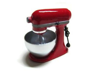 Dollhouse Miniatures RED Mixer Stand Kitchenware Electric Bakery Cooking