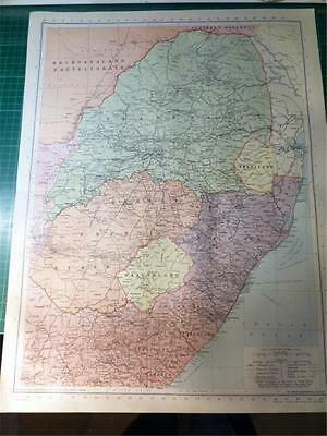 Map From Philip's Atlas 1945 - Union Of South Africa - East.....123-24/45