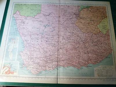 Map From Philip's Atlas 1945 - Union Of South Africa - West.....121-22/45