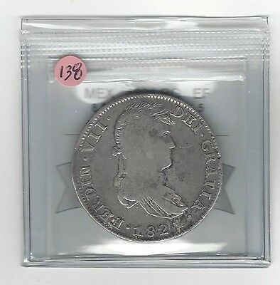 **1821 RG**Mexico, Silver 8 Reales, Coin Mart Graded **EF**KM #111.5 (#138)