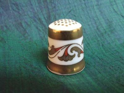 vtg Royal Crown Derby Gold Decorated Porcelain Thimble English China