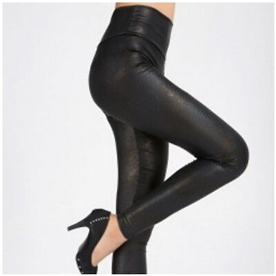 Fashion Womens Faux Leather Look Leggings Pants - All Sizes