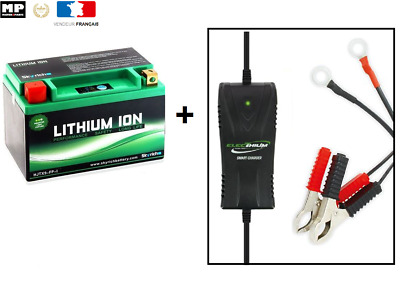 Pack batterie + chargeur  lithium YTX9-BS 12V 8Ah Pour Scooter Moto Quad