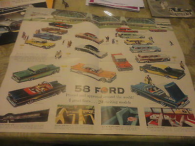 Amazing 1958 FORD Automobile Brochure with Specifications