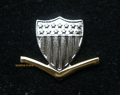 Authentic Us Coast Guard 3Rd Class Petty Officer E-4 Lapel Hat Colllar Pin Badge