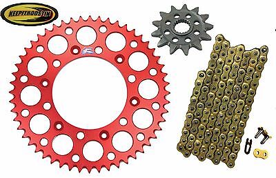 Front and Rear Red Sprocket 13 51 Gold Chain Fits Honda Cr125 2000 2001