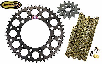 Front and Rear Black Sprocket 13 49 Gold Chain Fits Honda Crf250 2011-2016