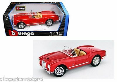 Bburago 1955 Lancia Aurelia B24 Spyder 1/18 Diecast Model Car Red 18-12048Rd