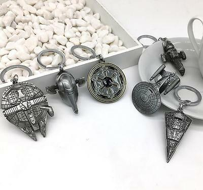 Cool Star Wars Millenium Falcon Destroyer Metal Keyring Keychain Key Chain Ring