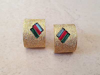 Bijou plaqué or boucle oreille LINE ARTE gold plated earring ohrring orecchino