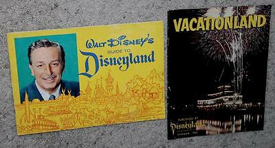"""1962 Disneyland Set:27 Page """"official Guide Book""""+Vacationland Magazine-Summer"""