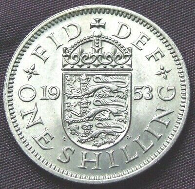 1953 English Shilling - Stunning UNCIRCULATED Coin, FREE POSTAGE (D438)