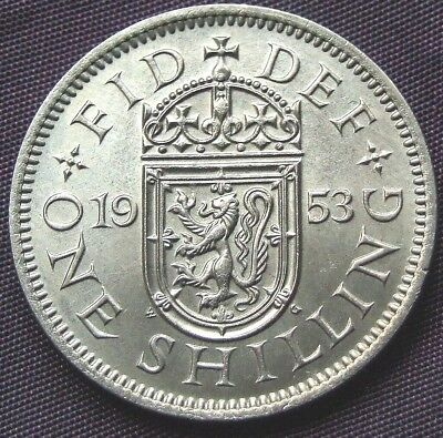 1953 Scottish Shilling, Stunning UNCIRCULATED Coin - FREE POSTAGE (D439)