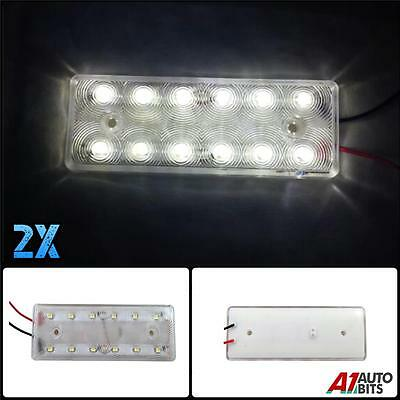 2X 12V Led Front Side Rear White Marker Position Lights Lamps Camper Caravan Van