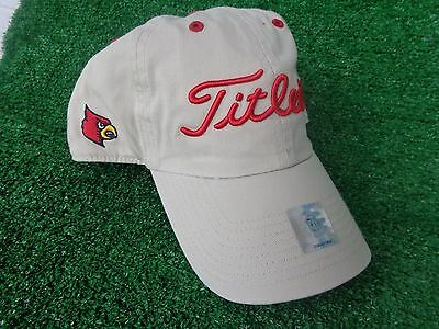 huge discount 07c58 3b357 ... australia titleist university louisville cardinals khaki ncaa golf hat  cap adjustable new 455c6 604e6