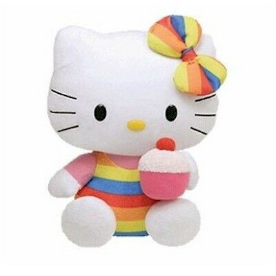 TY Plush Hello Kitty Toy Beanie Babieswith Cupcake 6-inches