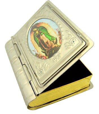Our Lady of Guadalupe Icon Metal Rosary Box, 2 1/2 Inch