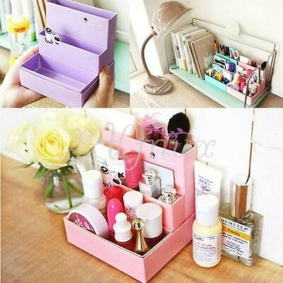 Paper Board Cosmetic Makeup Storage Desk Stationery Organizer Case DIY