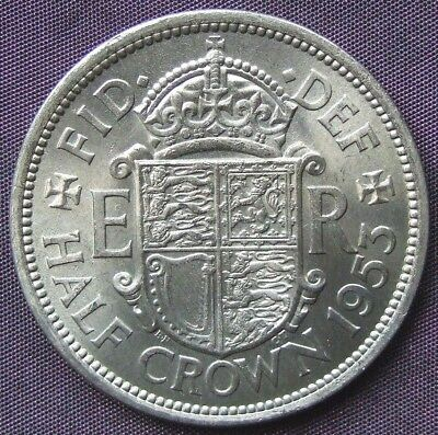 1953 Stunning UNCIRCULATED Coronation Year Halfcrown. FREE POSTAGE (D451)