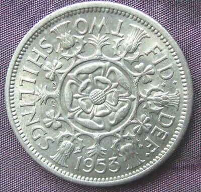 1953 Two Shillings, Stunning UNCIRCULATED Florin, FREE POSTAGE (D441)