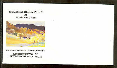 Wolf Kahn Limited Edition United Nations Wfuna Art Cachet * Rare Unserviced