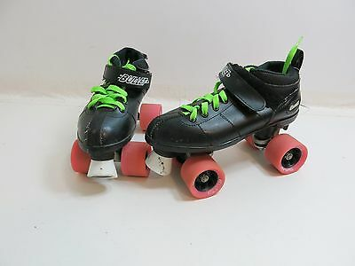 Chicago Bullet Speed Skates With Pink Bullet Wheels, Black Boot, Size 5